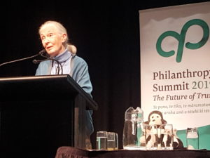 Dr Jane Goodall at the Philantrhopy NZ Summit